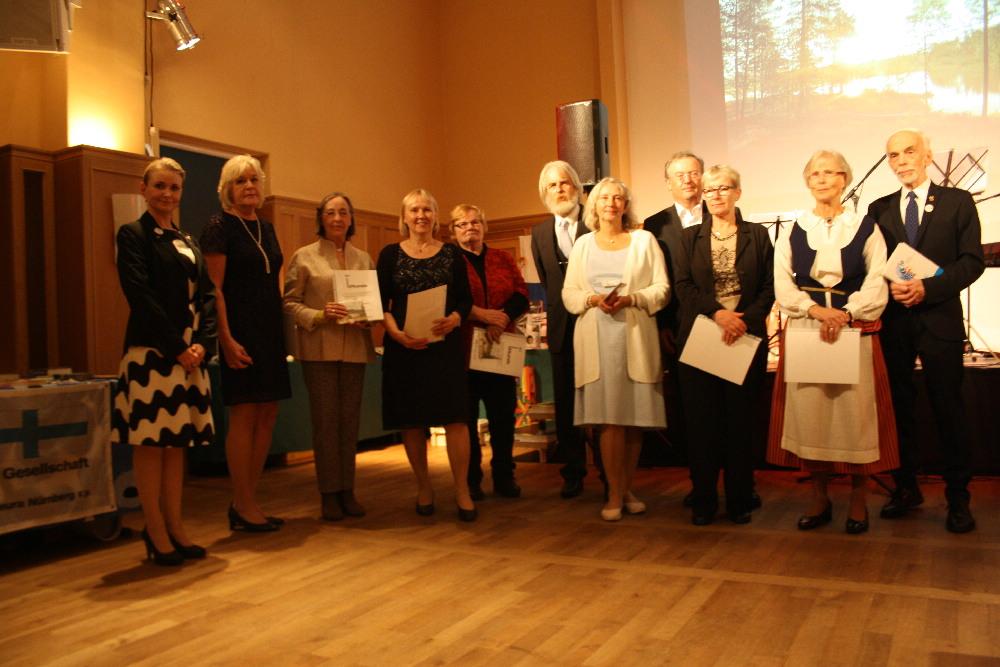 Mitgliederehrung DFG Nürnberg - Suomi - 100 Jahre Finnland