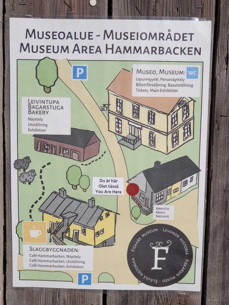 Fiskars Museum - Übersichtskart